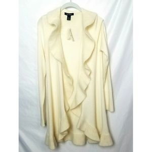 WHBM | Rabbit Hair and Wool Cream Long Sweater